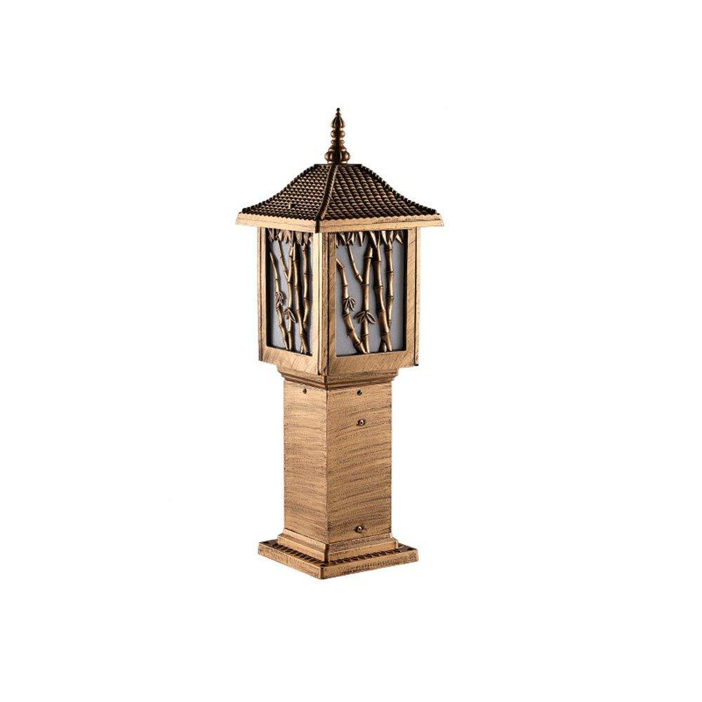 Modeen LED Smart Outdoor Garden Wall Lantern Aluminium Acrylic E27 Lawn Lights Column Lamp Post Garden Street Light All-Weather/Water-Resistant (Size : 60cm)