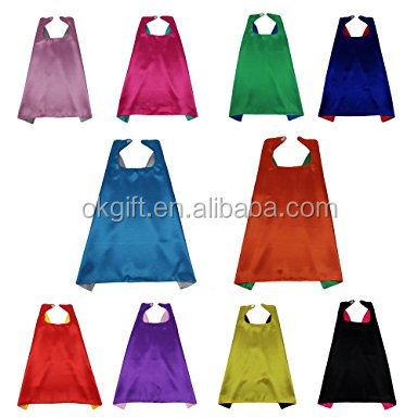 factory direct sell <strong>kids</strong> <strong>capes</strong> plain <strong>superhero</strong> <strong>capes</strong> for <strong>kids</strong> 14pcs per set