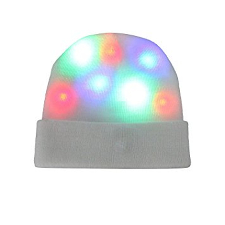 cheap party hats/adult party hats /LED Lights Warm Knitted Light Beanie Cap