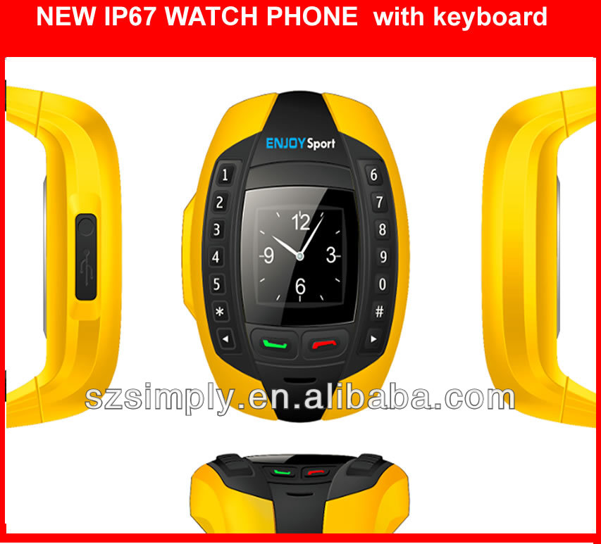 ip67 kids cell phone watch with BT single sim