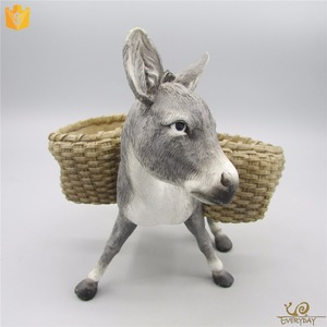ED12279A Decorative Polyresin Farm Small Animal Burros Figurine Donkey Sculpture Gift
