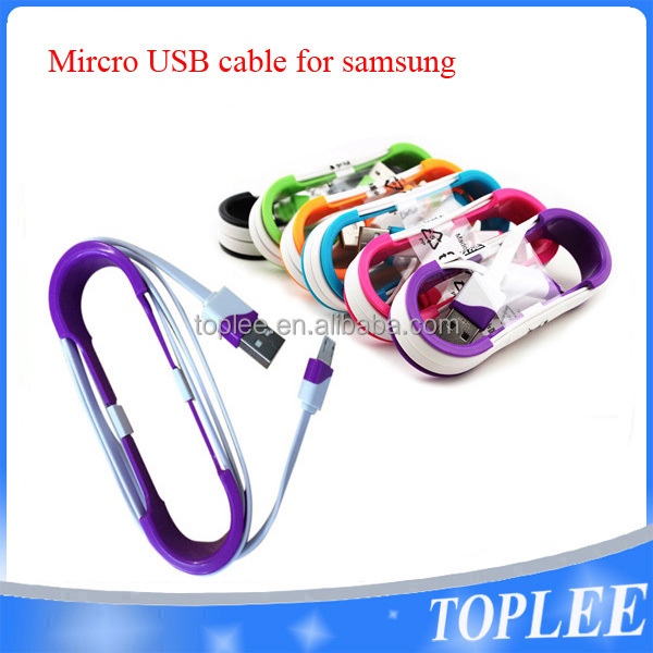 factory price!!! double colors V8 micro usb cable for samsung Huawei