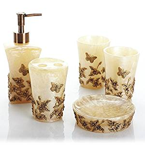BBSLT Butterfly five piece Butterfly dance-style bathroom set-bathroom American household products