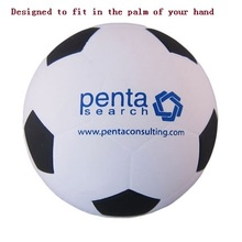 Logo printed foam soccer antistress ball
