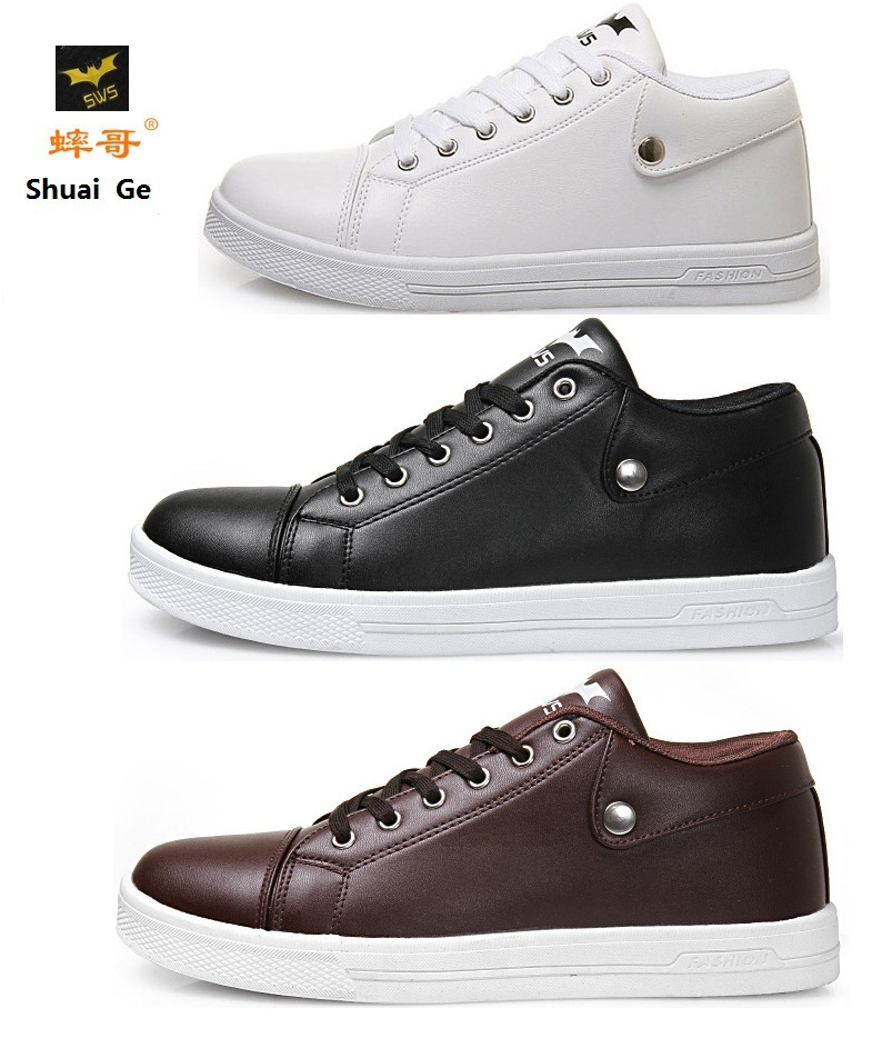 Shuai ge (SWS) men's shoes white sneakers students sports leisure series autumn sneakers shoe size: 38-43.