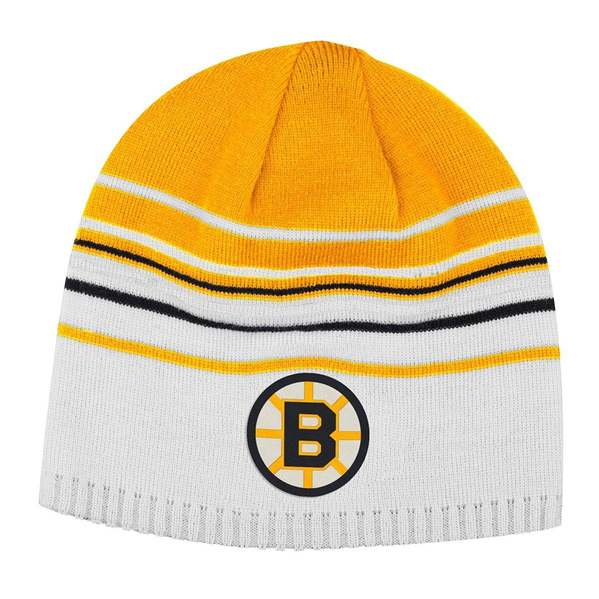 e9de35aac65 Boston Bruins CCM Throwback NHL Cuffless Reversible Knit Hat