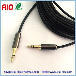 3.5mm stereo 3 pin male plug to male plug mini TRS audio AUX cable
