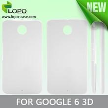 Manufacturer made 3D Sublimation Mobile Phone Case for Google Nexus 6