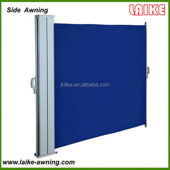 Popular Manual Collapsible Retractable Aluminium Side Awning