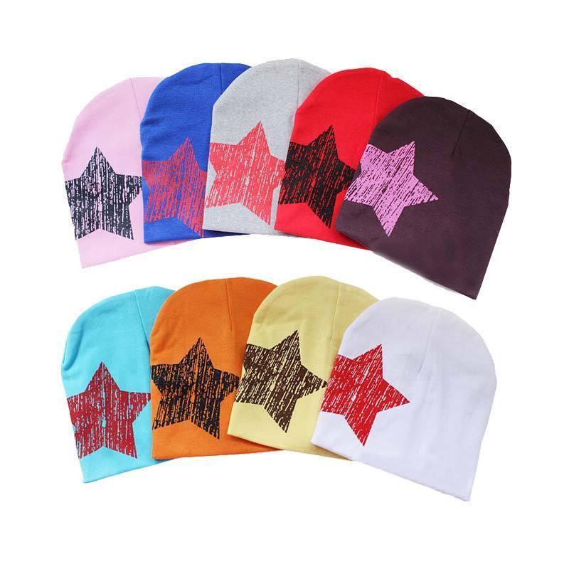 2015 нью-унисекс детские мальчик девочка малыша малолетними детьми хлопок мягкий симпатичные Hat Cap шапочка зима звезды шляпы