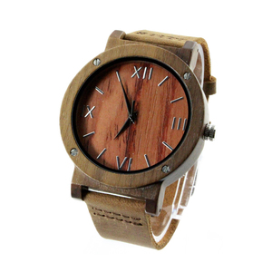 2020 1pc Sample Dropshipping New Walnut Wood Watches For Men Watch Quartz