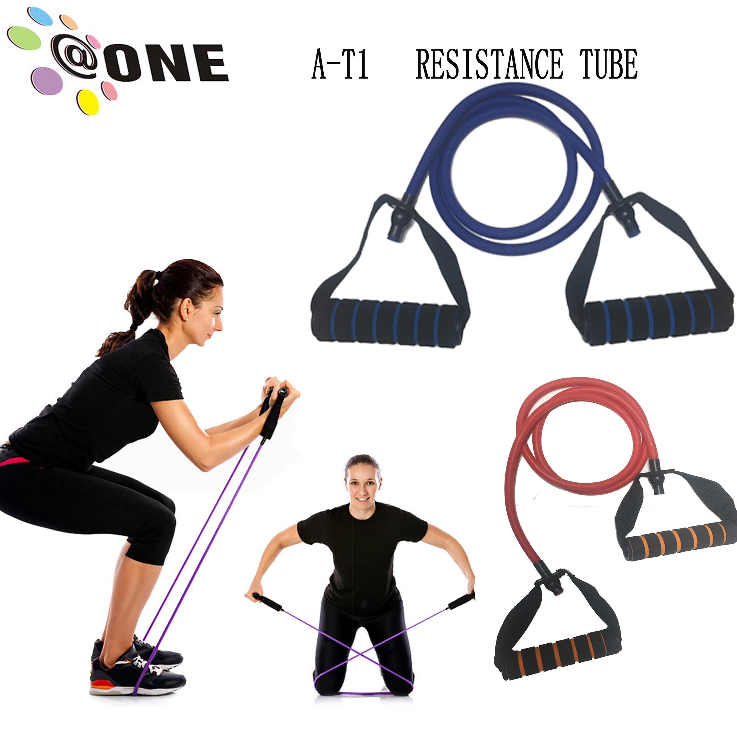 Natural latex bodybuilding musculation resistance tube