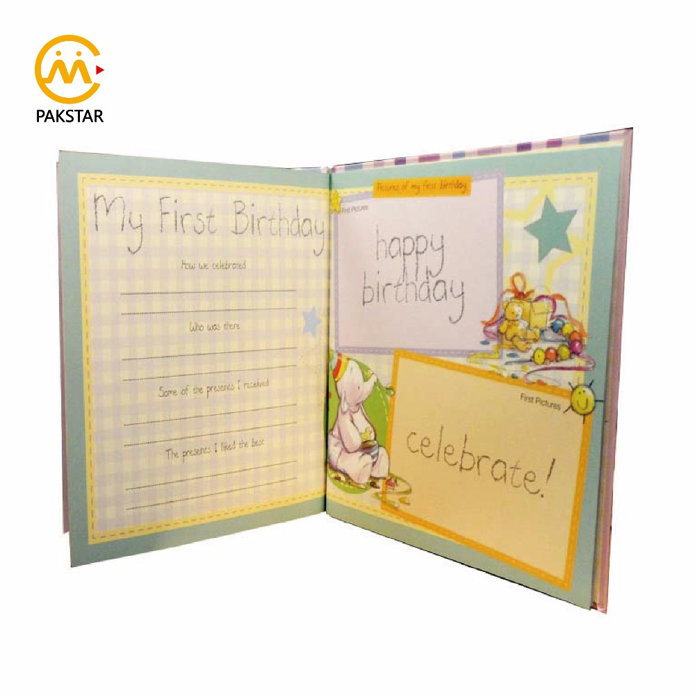 Custom printing paperboard cardboard parents record books photo album baby memory books