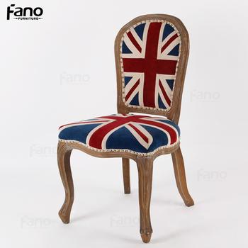 Nailhead Union Jack Louis Ghost Chair Replica Victoria Ghost Side Chair