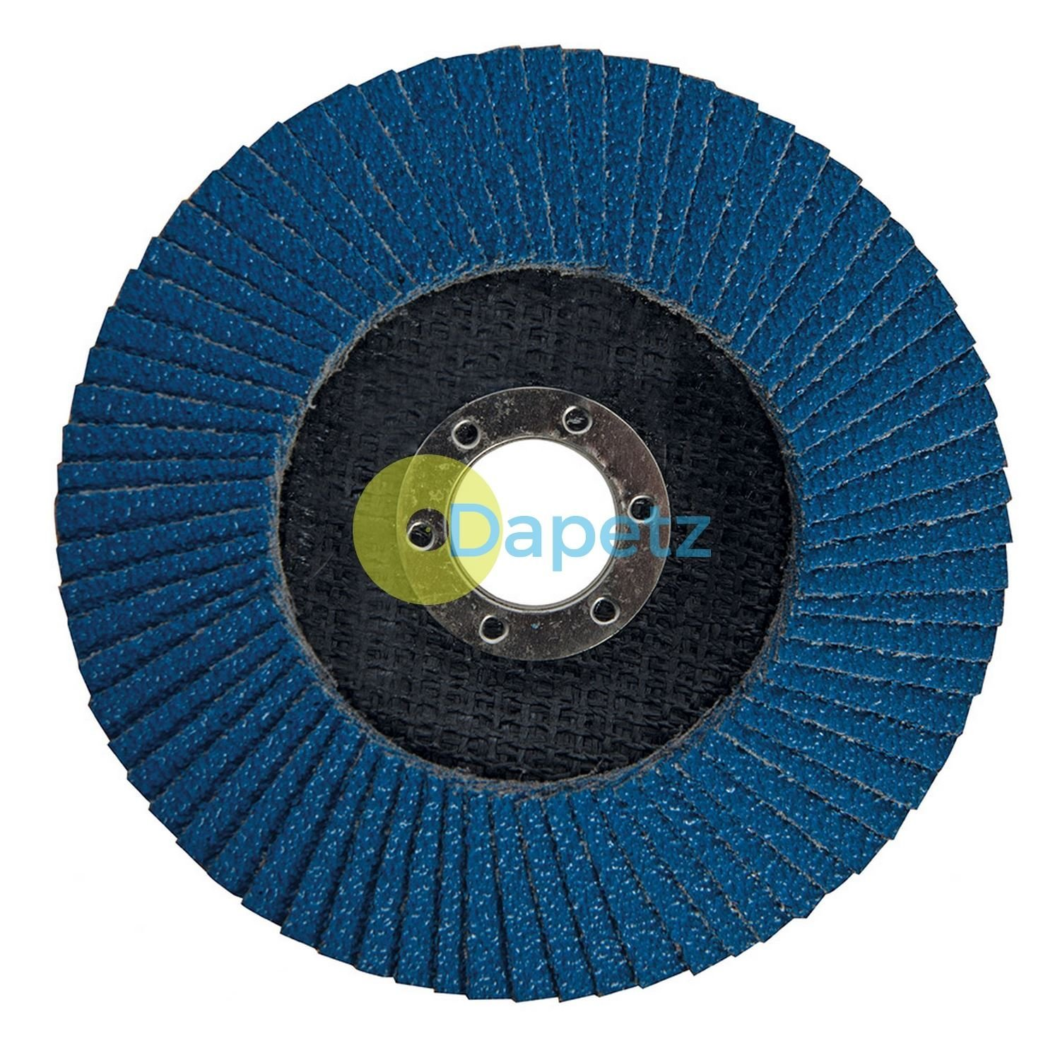 Dapetz Zirconium Flap Disc 125mm Sanding DIY - 40 Grit Heavy Duty Zirconium Flap Disc