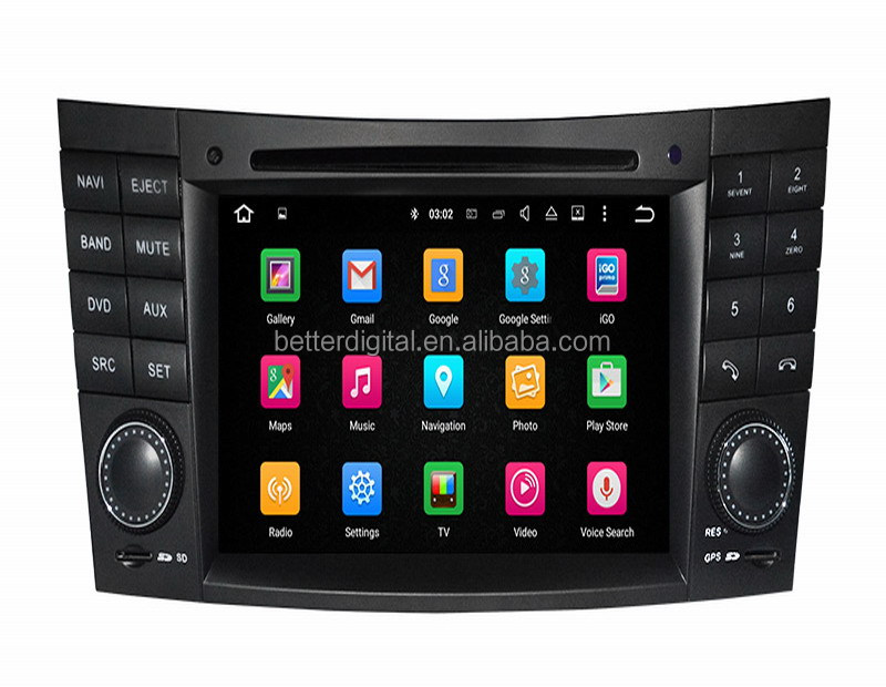 For mercedes w211 radio with android 5.1 or 7.1 OS