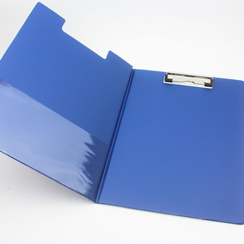 クリップボードカバーa4折りたたみクリップボードファンシーpvcカスタム
