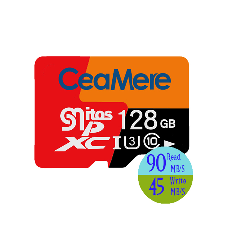 Ceamere Wholesale Fast Speed Micro TF Memory Card 512GB Class 10 UHS-3  Full Capacity Micro TF Memory Card 512GB
