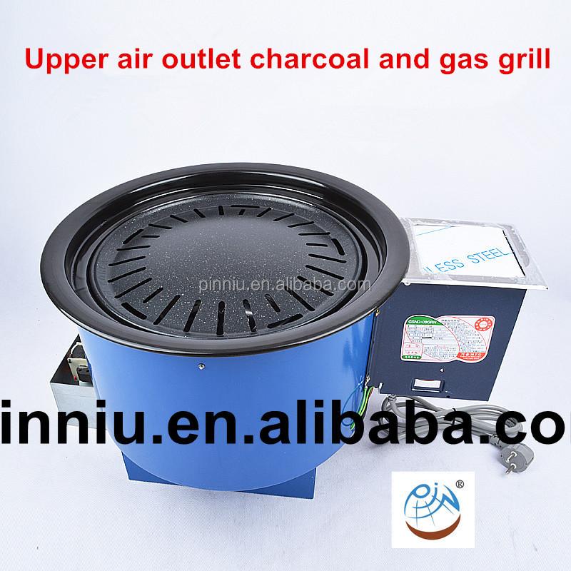 Газовый барбекю корейский электрокамин портал белого цвета