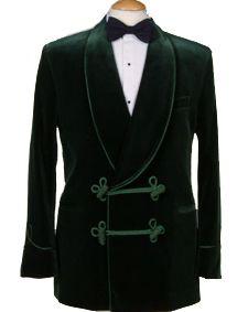 Latest Coat Pant Designs Dark Green Velvet Smoking Men Suit Groom