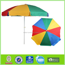 7' Vented SuperLight Beach Umbrella W/ Steel Pole & Fiberglass Ribs - Alt Panels portable umbrella