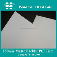 150mic matte white backlit pet film for ad display
