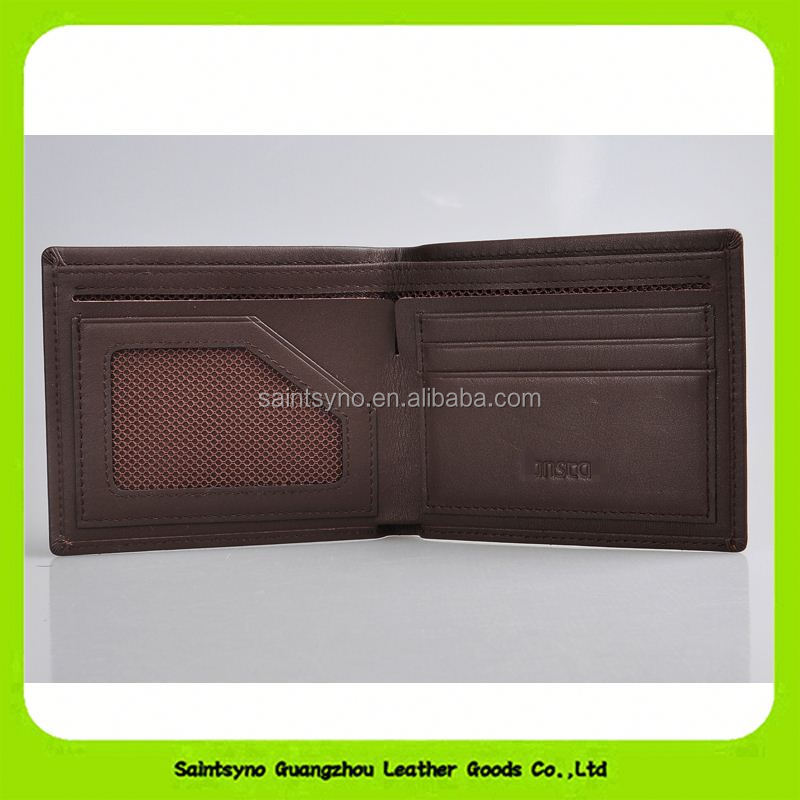 Classic Soft brown leather wallet handmade craft bifold gent men purse 16800