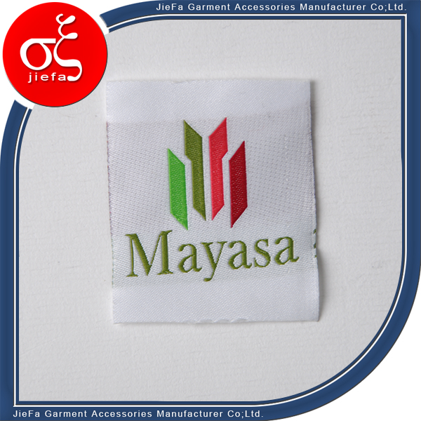 wholesale fashion custom garment i ron on woven labels for hats/t shirt
