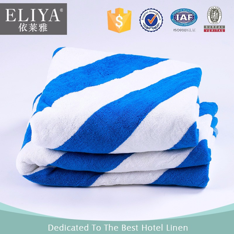 Gold Supplier 100 Cotton Yarn Dyed Hotel Terry Beach Towel Towels