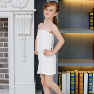 Free shipping White Kids Girls Long Tube Top Modal Underwear Dress Underskirt