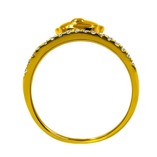 yellow gold plate banding wedding ring settings