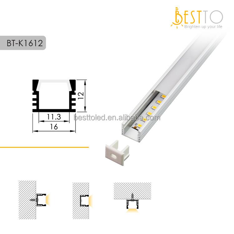 W16*H12 mm U-shapes aluminium extrusion profiles, aluminium cubes , aluminium extruded sections