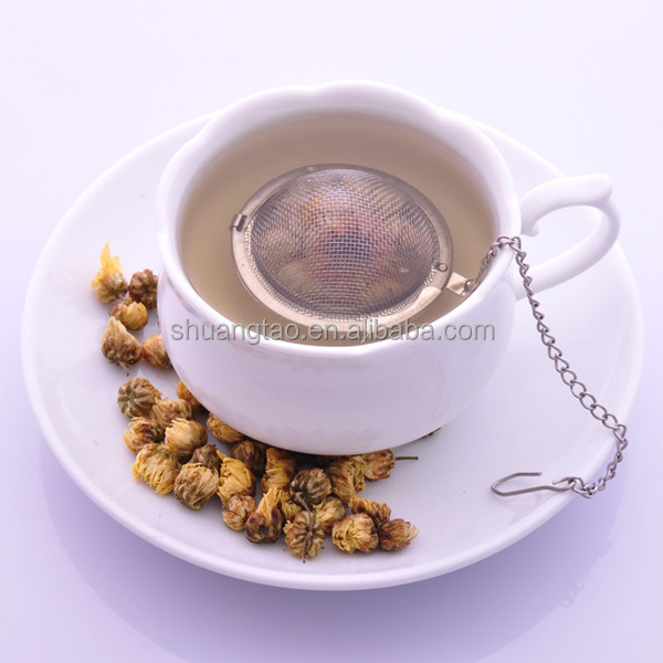 Ball shaped tea stainer with chain, stainless steel tea ball, tea filter