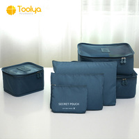 Hot sale luggage organizer packing cubes 6pcs travel pouch set