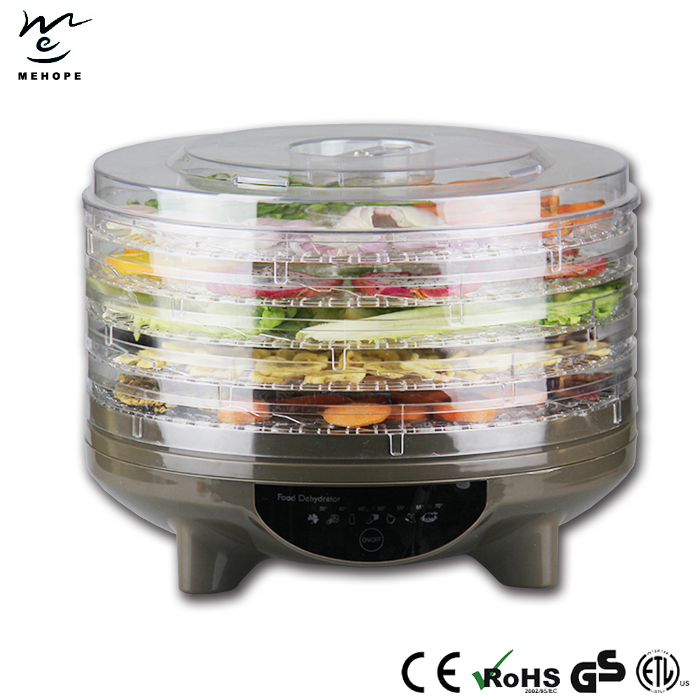 Digital food dehydrator with 5 trays/fruit dehydrator