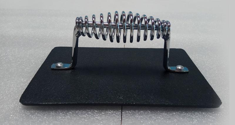 מלבני יצוק ברזל גריל עיתונות עם מגניב אחיזה ספירלת ידית