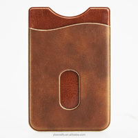 Stick-On quality leather Wallet - for all iPhone, iPod Touch, Galaxy S & Android smart phones