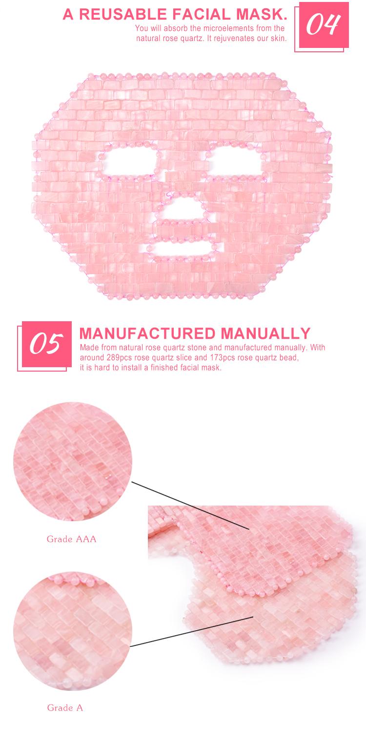 Refroidissement Naturel du visage Déesse Rose Quartz Rose Jade Sommeil Masque pour les yeux Pour La Beauté