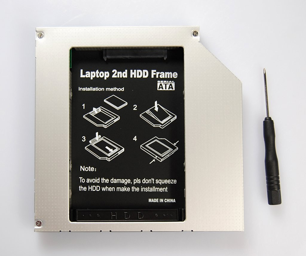 """2.5"""" 2ND HDD Hard Disk Drive HDD Bay 12.7mm SATA IDE To SATA DISK DRIVE caddy for Dell Vostro 1500 1700"""
