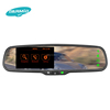 Germid rearview mirror car gps navigation with wireless rearview camera+hands free bluetooth+backup camera display