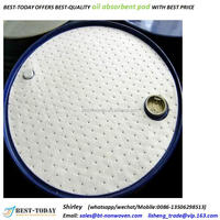 hotsales 210L drum or barrel top round oil absorbent mat