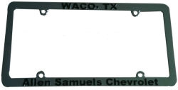 4-Hole Custom Chromed Plastic Thin License Plate Frame