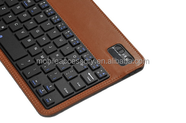 Beautiful design sewing style bluetooth keyboard for ipad in different colors