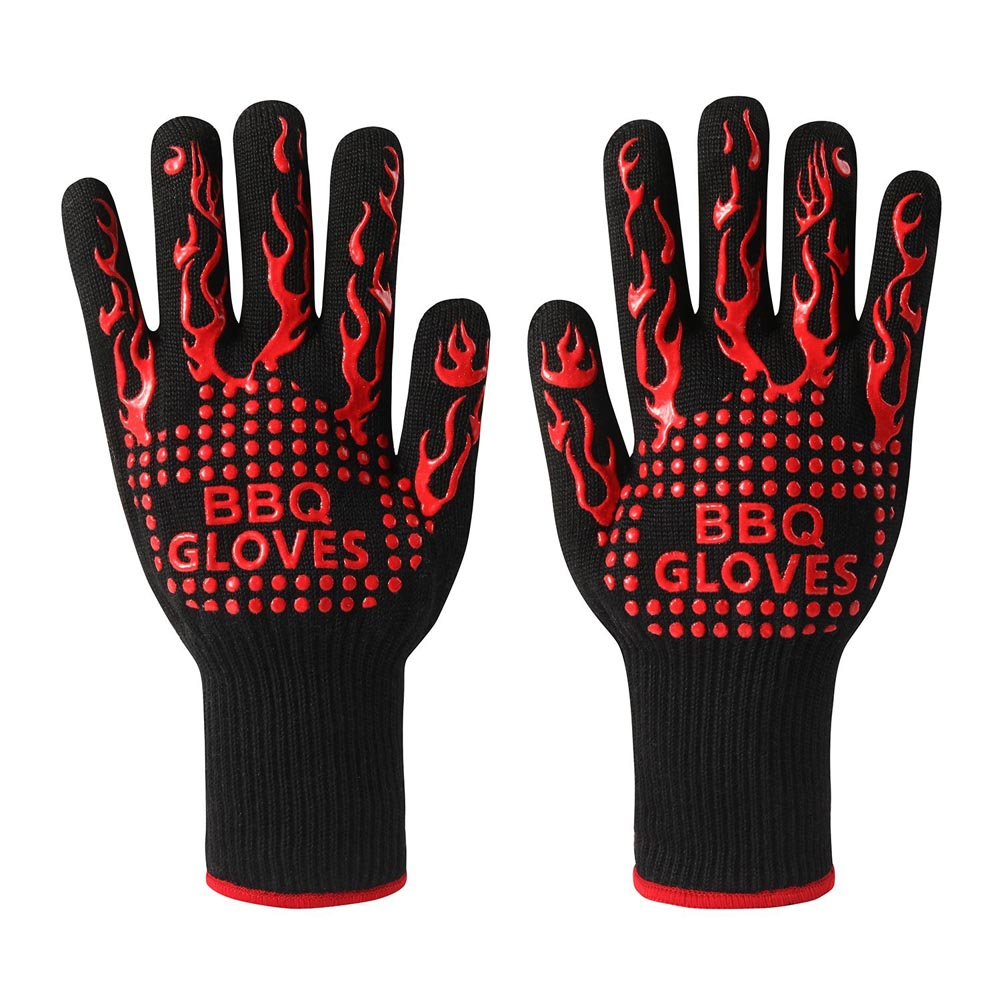 Customized Barbecue Oven Glove Handschuh OEM 932F Extreme Heat Resistant Gloves Grill BBQ Gloves