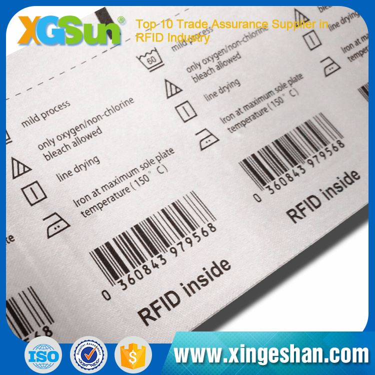 Customized Eco-Friendly Rfid Chip Clothing Uhf Rfid Hang Tag