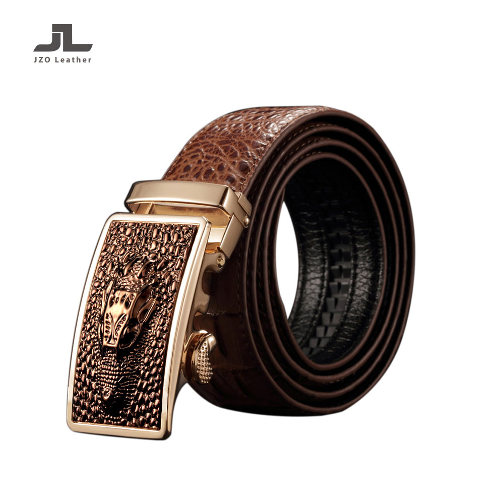 2019 Custom High Quality Crocodile Texture Wholesale Man Automatic Genuine Leather Embossed Belt