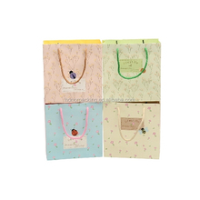 Custom 제 plain cute with your own logo printed <span class=keywords><strong>종이</strong></span> handle 면 drawstring gift 쇼핑 carrier bag 도매