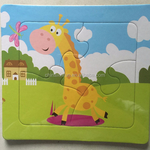 Customized Paper puzzle magic puzzle with tray for Children