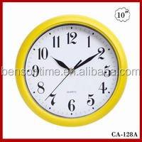 Cason round plastic wall clock 10 inches
