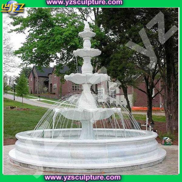 nuevo diseño de mármol blanco fuente de agua al aire libre - buy